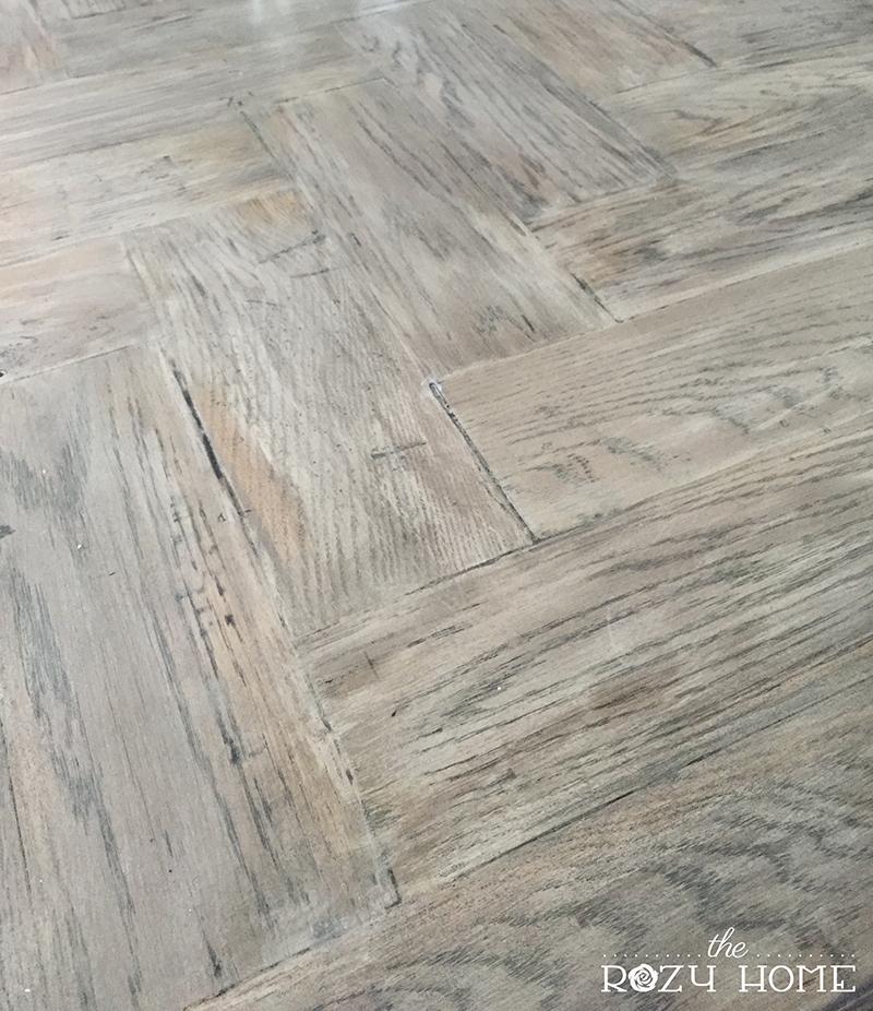 gray wash wood island