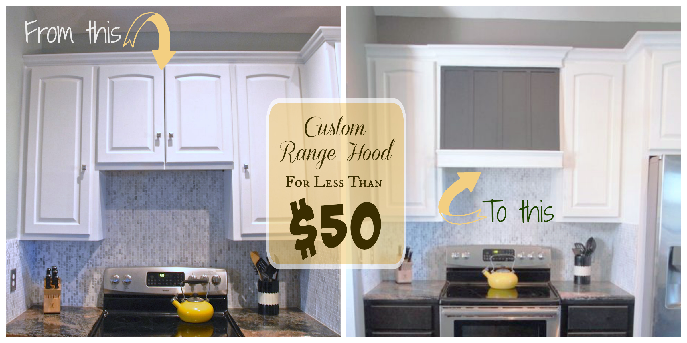 Custom Range Hood For Less Than 50