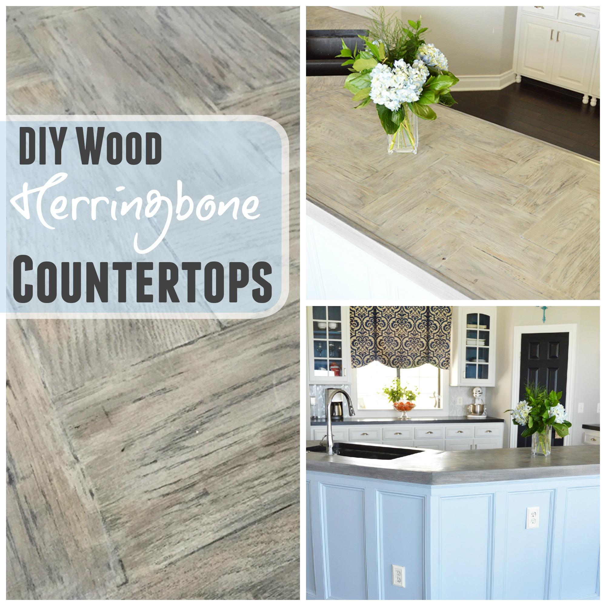 DIY Herringbone Wood Countertops The Rozy Home
