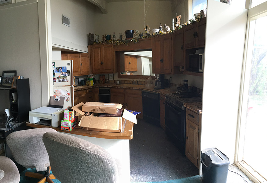 kitchen/dining before