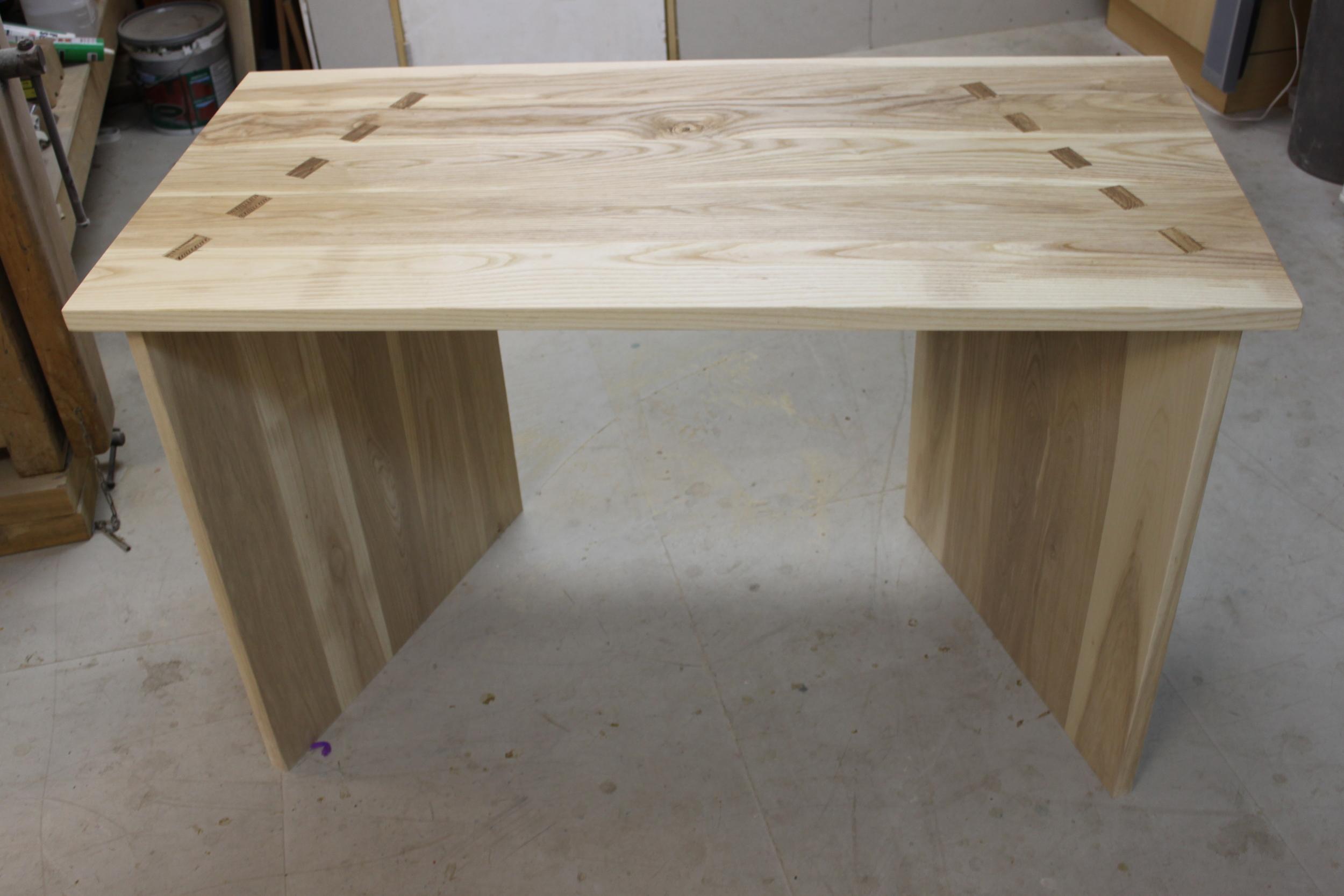 Bespoke desk designed and made on York Art & Crafts Woodwork & Furniture Making Course