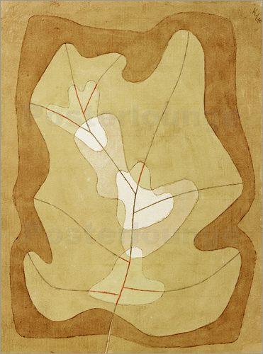 Paul Klee - 'Exposed Leaf'