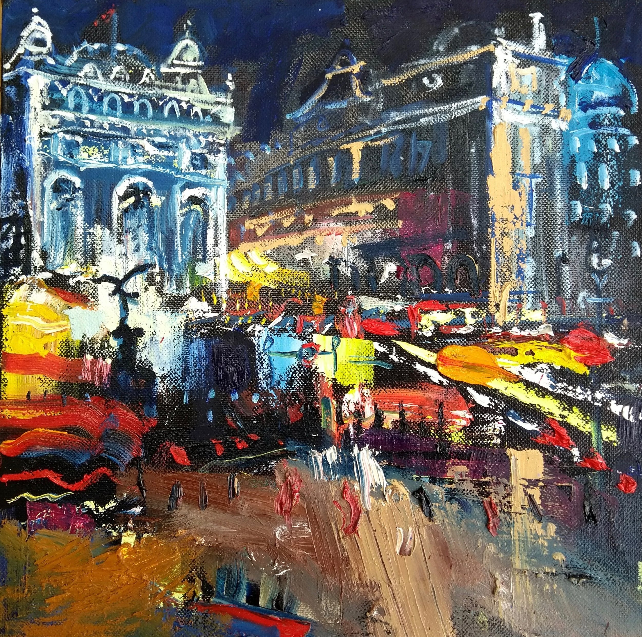 Piccadilly Circus at Night - Richard Barnes