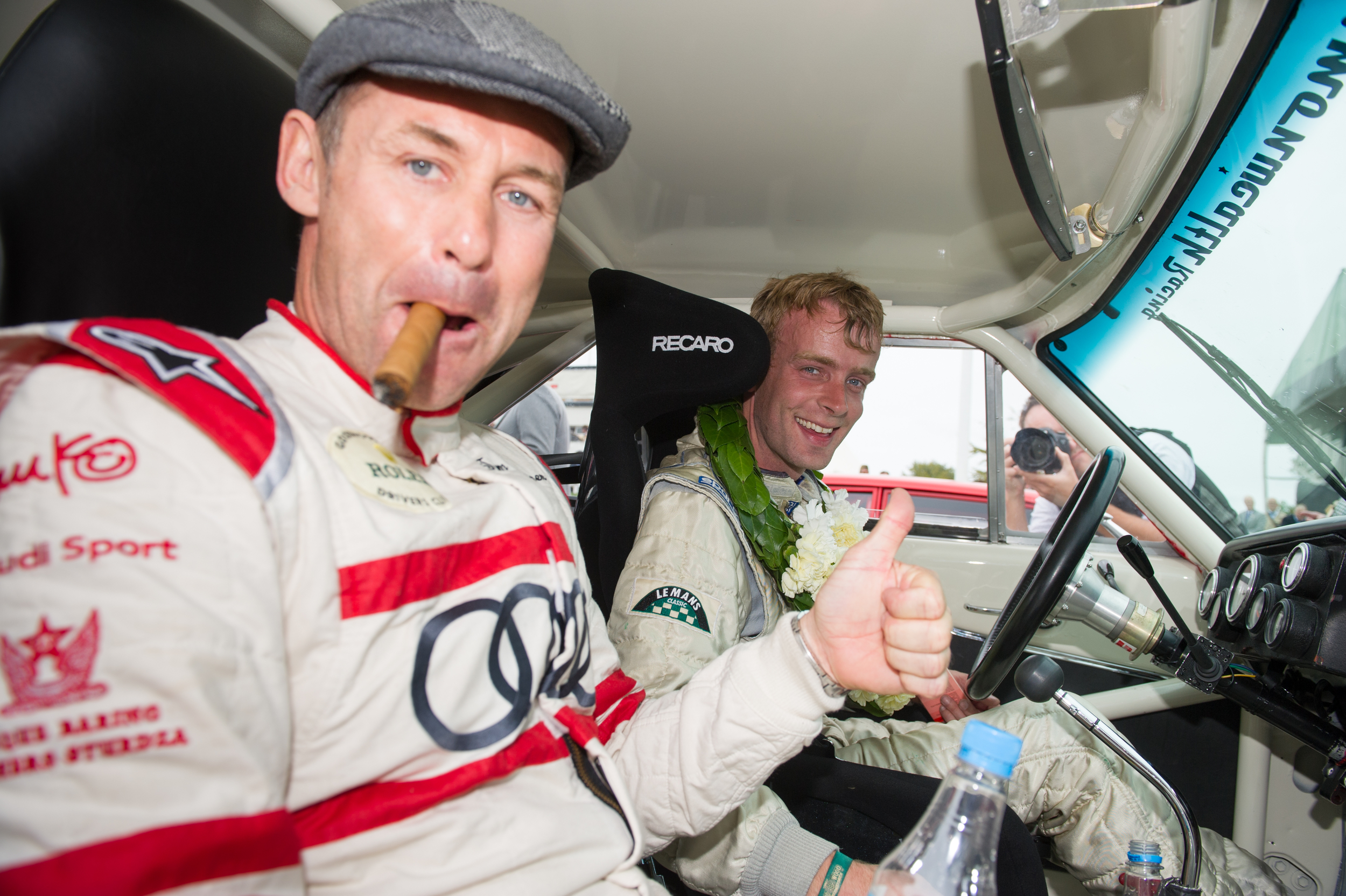 HENRY MANN & TOM KRISTENSEN AFTER RACE NO 2  ©   C opyright Scott Dennis Photography