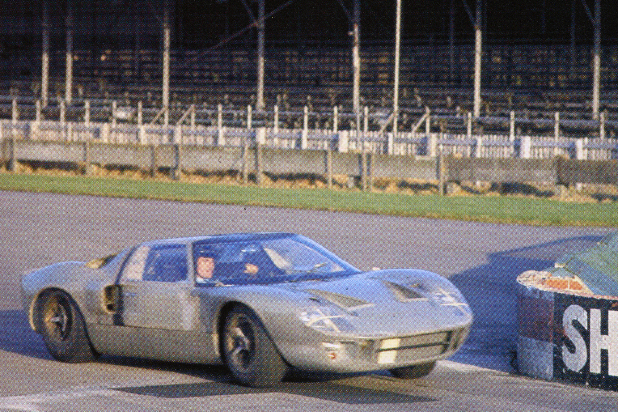 As part of Ford's effort to win Le Mans, two lightweight GT40's were built by Alan Mann Racing and were raced at Sebring by Jackie Stewart, Graham Hill, Sir John Whitmore and Frank Gardner.