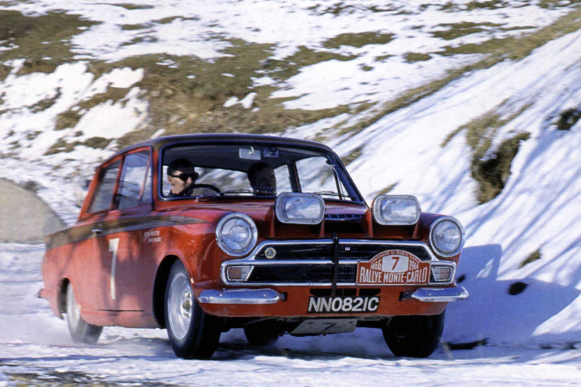 Lotus Cortinas were entered into the 100th Monte Carlo Rally along with campaigning for the European Touring Car Championship, winning four of the rounds and finishing second overall.