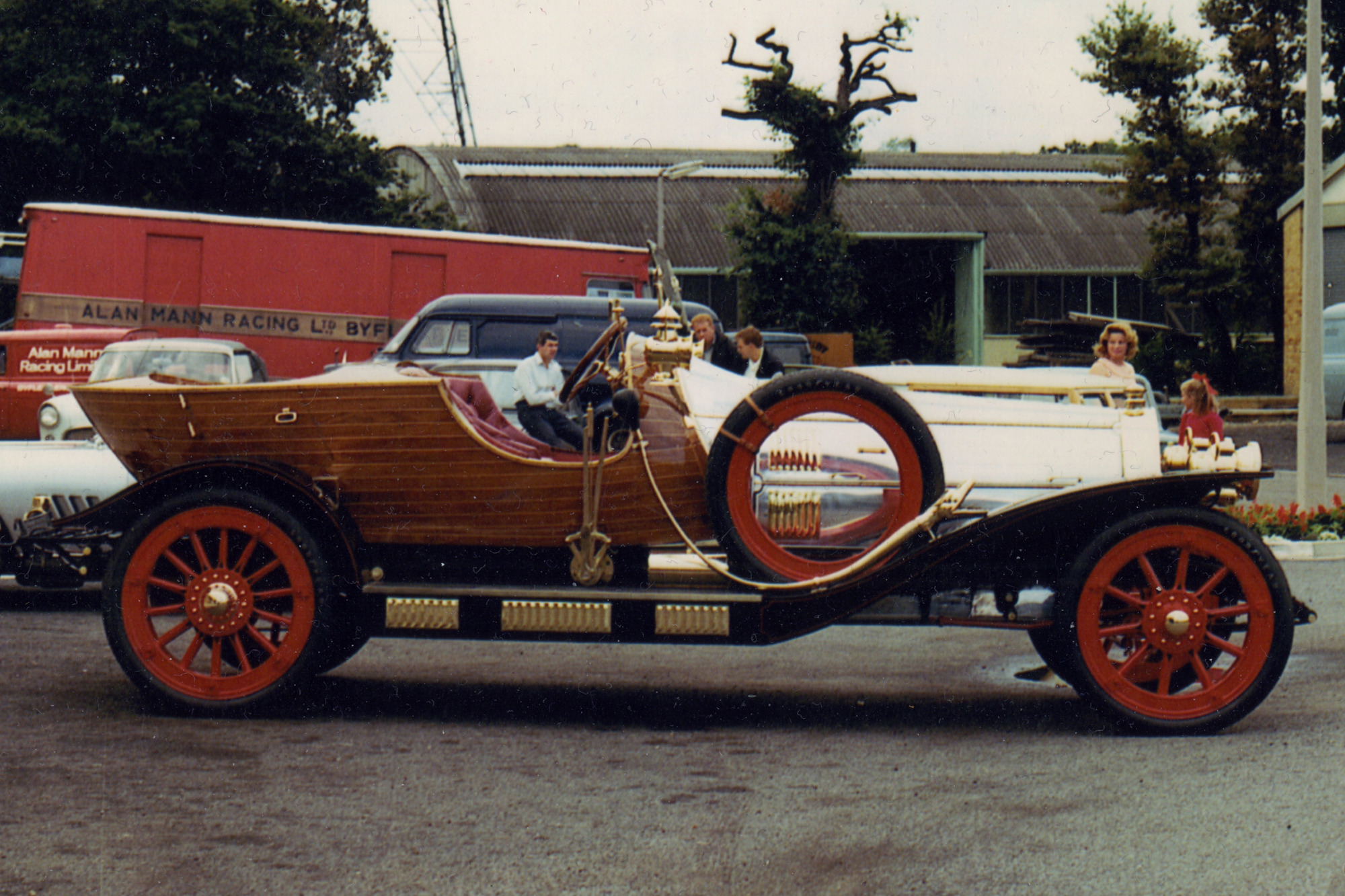 A curveball project for the Alan Mann Racing engineers and mechanics came in the form of the iconic Chitty Chitty Bang Bang designed and constructed for the movie of the same name. Inspired by vintage racers Chitty used the engine and gearbox from a Ford Zodiac along with custom made Goodyear tyres for its 34-inch wheels!