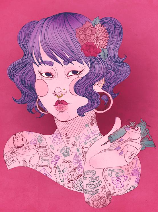"""Sophomore, Digital Illustration. 8""""x10"""". 2015."""