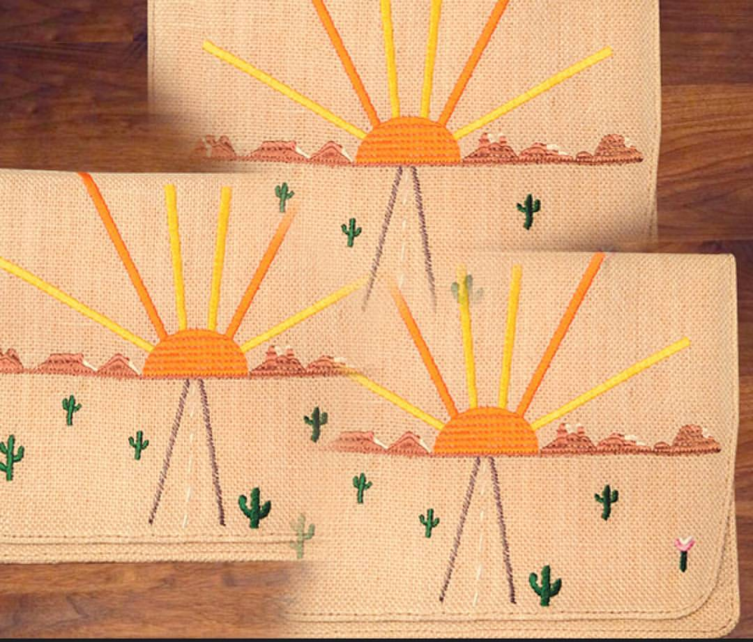 'On The Road' clutches #comingsoon #desert #embroidery    www.desertsunbrand.com