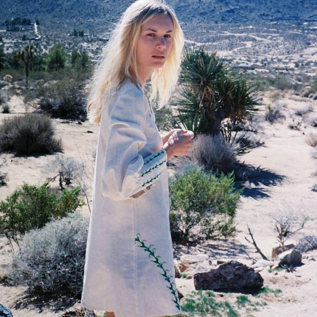 Desert walks in our corn field dress.. Model: @kateparfet