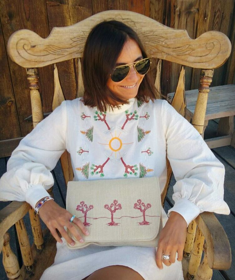 #desertsunbrand #joshuatree #embroidery (at Pioneertown, California)