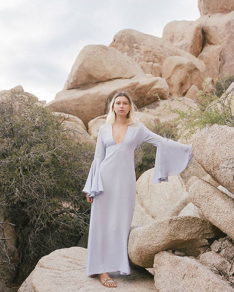 Our new limited edition JT Maxi dress in violet is coming soon… 📸@shevakafai   www.desertsunbrand.com
