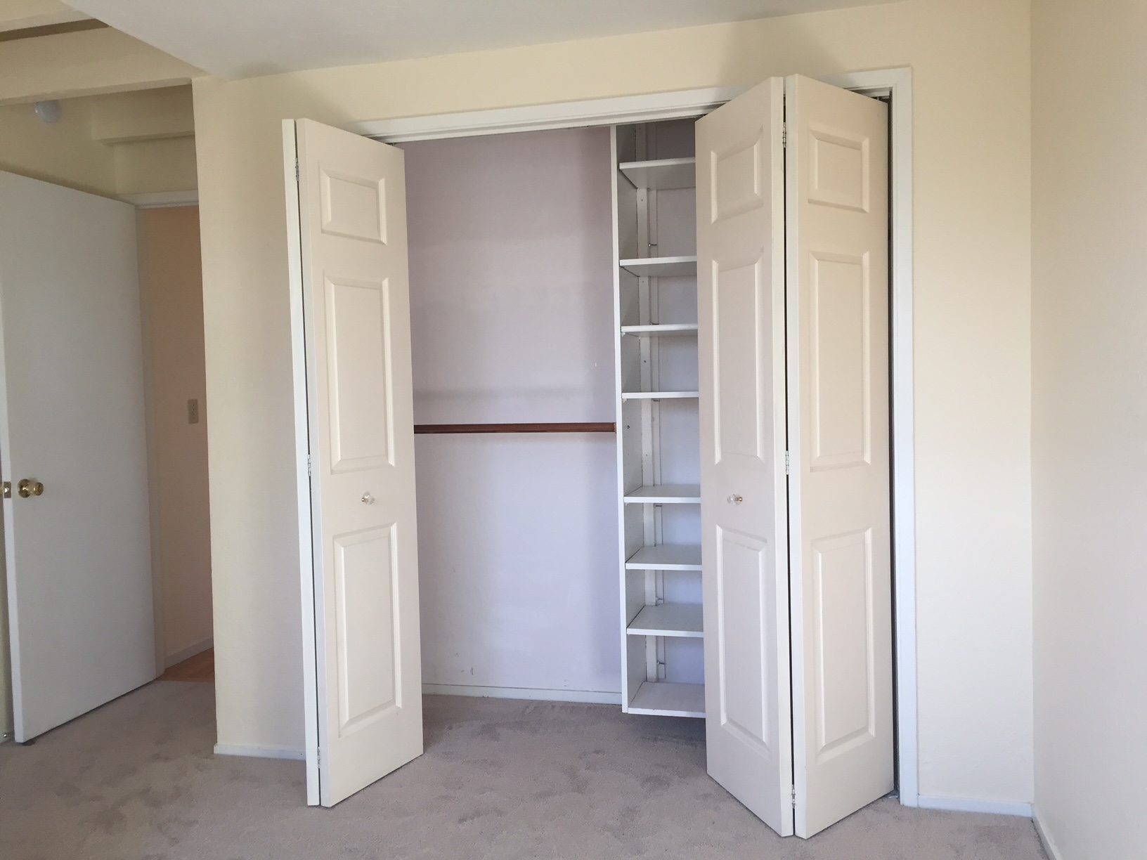 BEFORE: The master bedroom closet that was removed.
