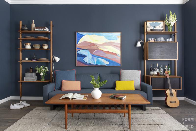 Pacific Heights Vintage Modern Living Room