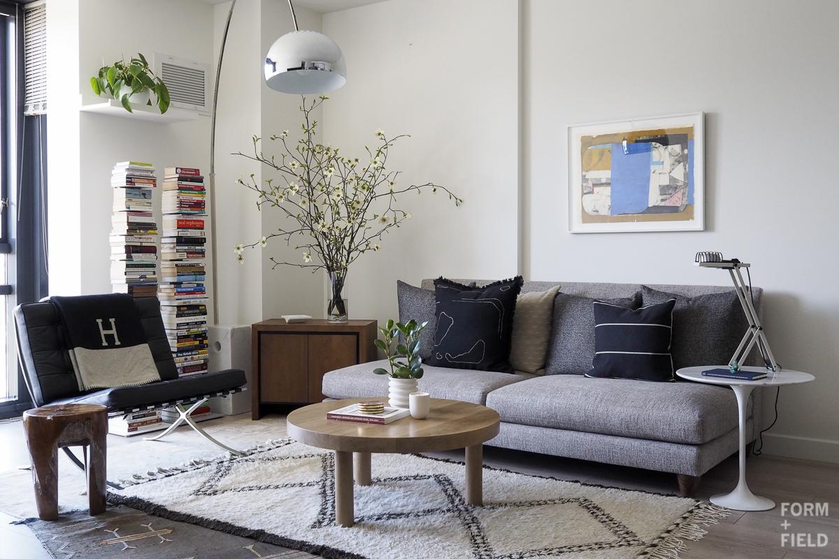 SOMA Modernist Condo Living Room