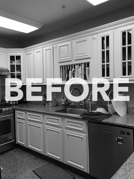 BEFORE: What you're seeing is the length of the kitchen.