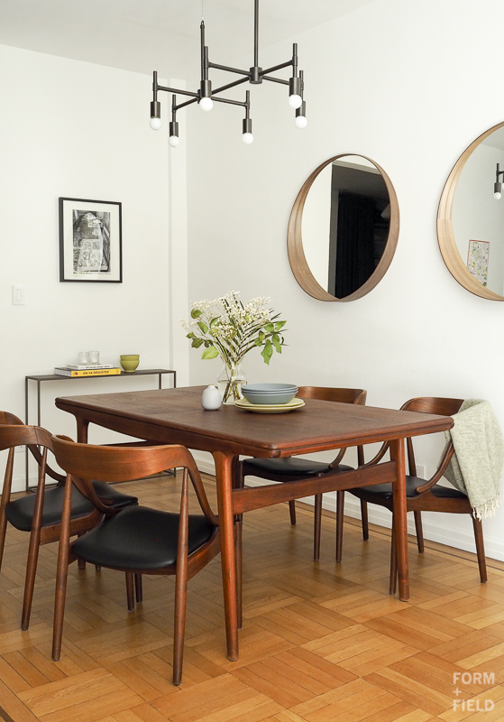 Brooklyn Mid-Century Co-op Dining Room