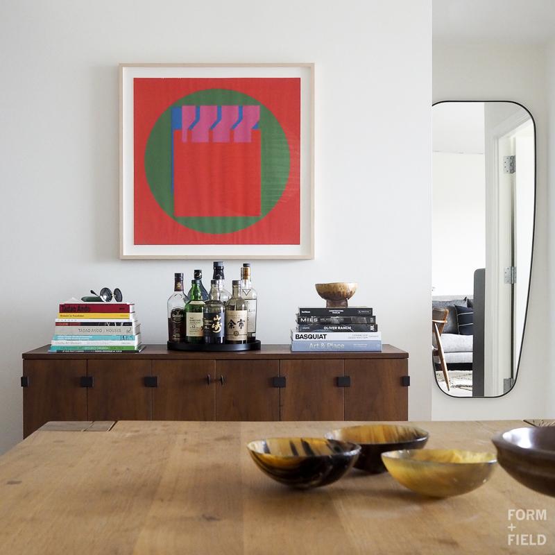 SOMA Modernist Condo Dining Room Vignette