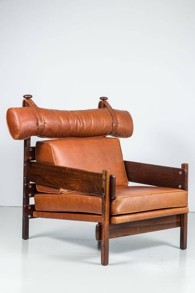 Tonico chair in jacaranda and leather, 1950  (   source   )