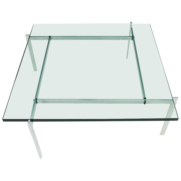 PK61 Coffee Table in Steel and Glass E. Kold Christensen Denmark ( source )
