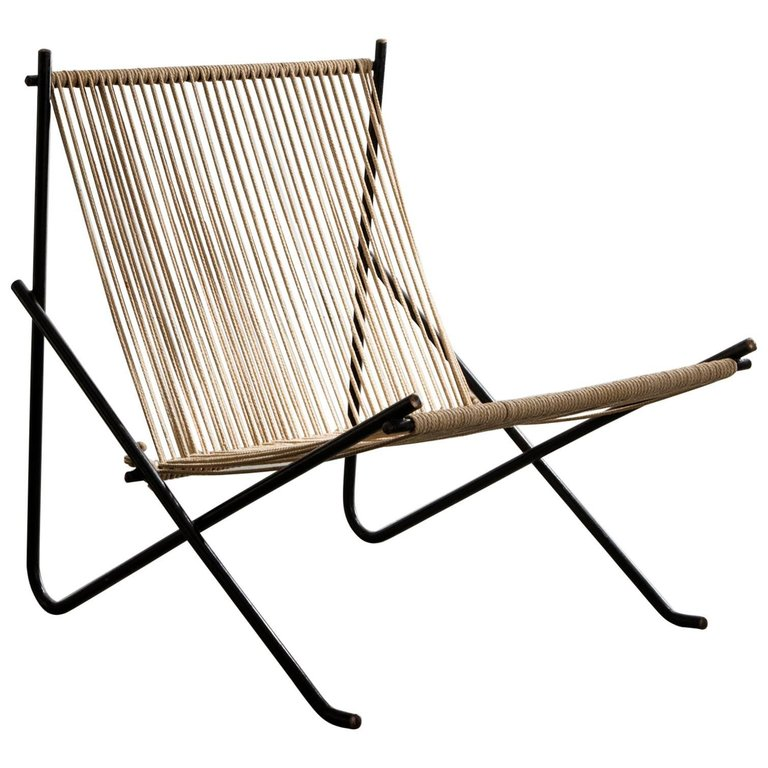 """Holscher"" chair with welded steel tube frame ( source )"