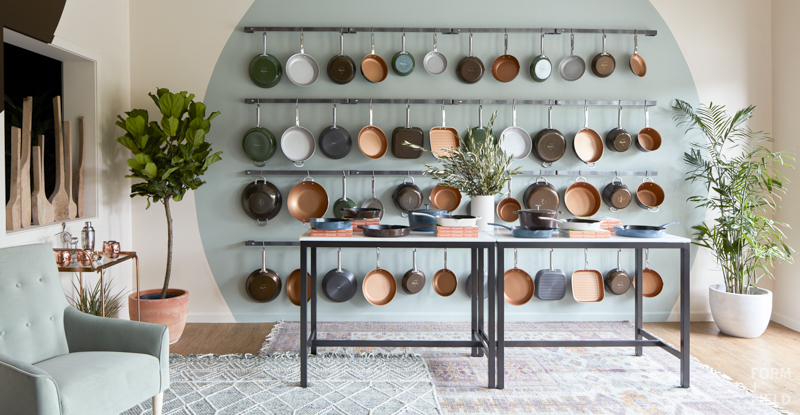 Ayesha Curry Homemade Pop-Up Shop Cookware Wall
