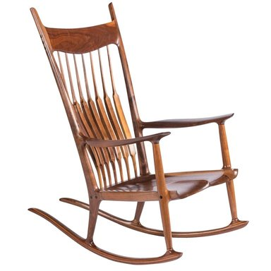 Walnut rocking chair, 1977  (   source   )