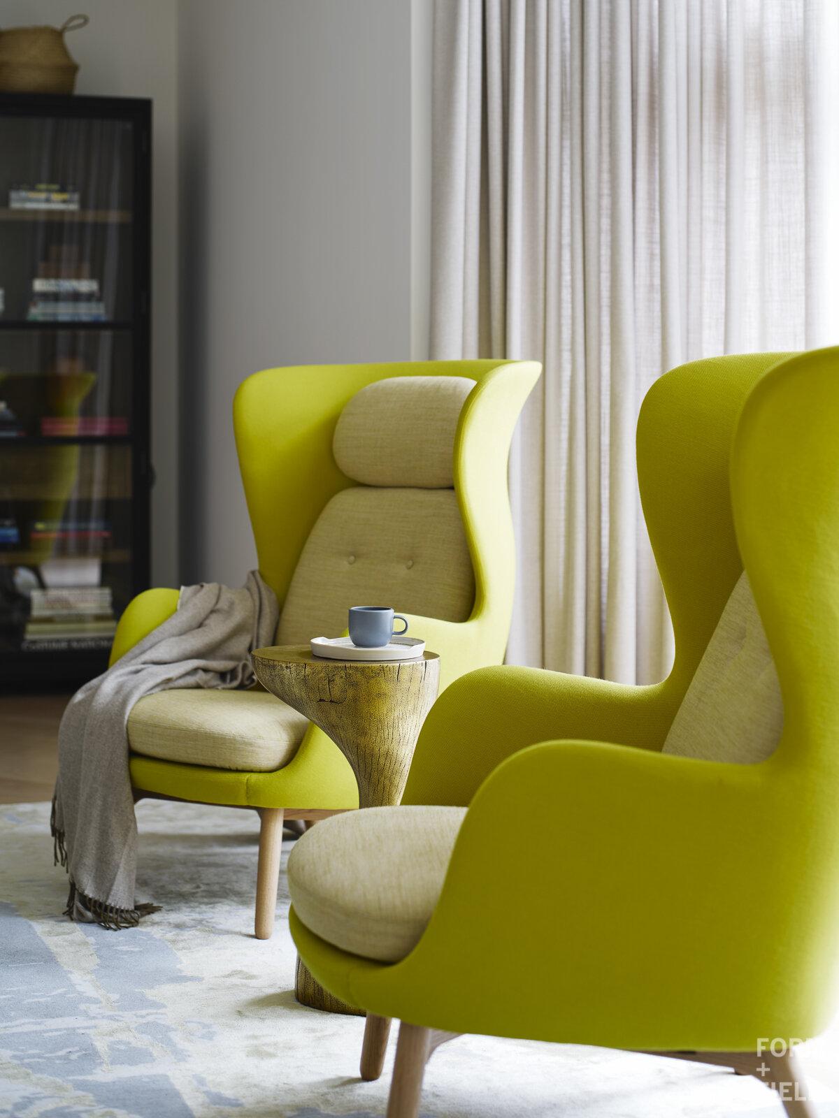 Atherton Estate Family Room Lounge Chair Detail
