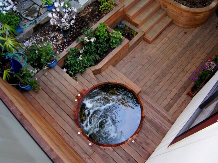 Artisans Landscape Hot Tub Installation