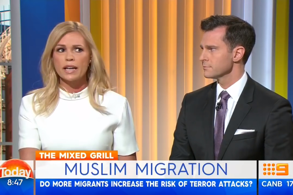 Sonia Kruger comments on Muslim immigration on The Today Show, 17 July 2016. Image: ABC News