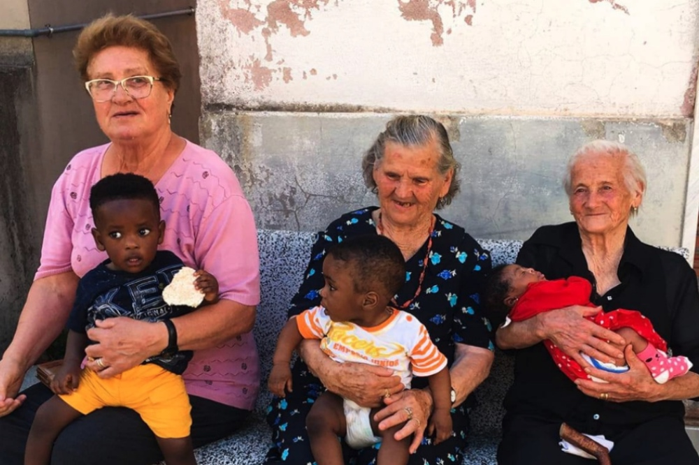 """The grandmothers from Campoli del Monte Taburno, Italy, have been described as """"a ray of light"""". Source: Facebook"""