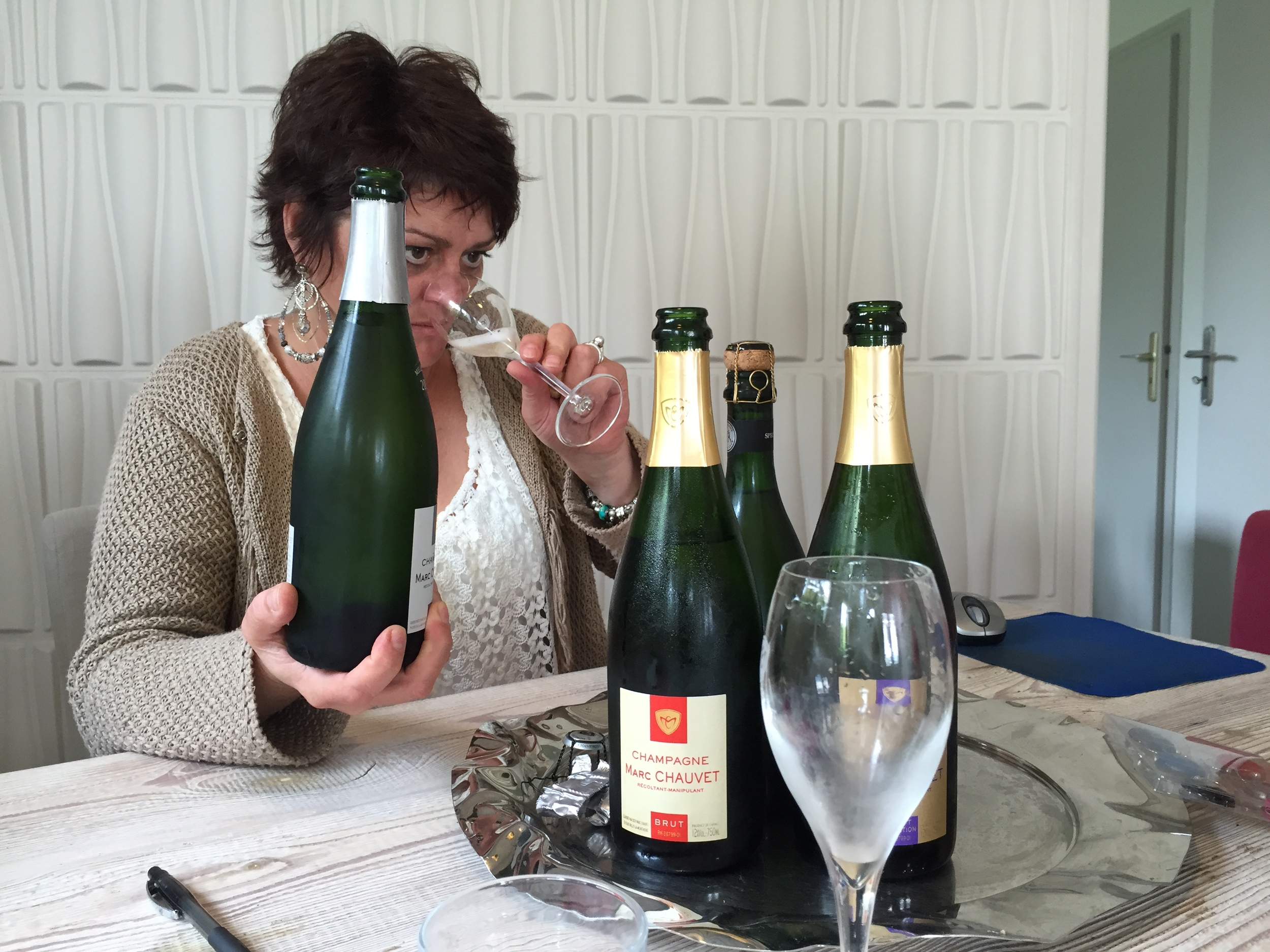 Tasting with Clotilde Chauvet in Rilly-la-Montagne...