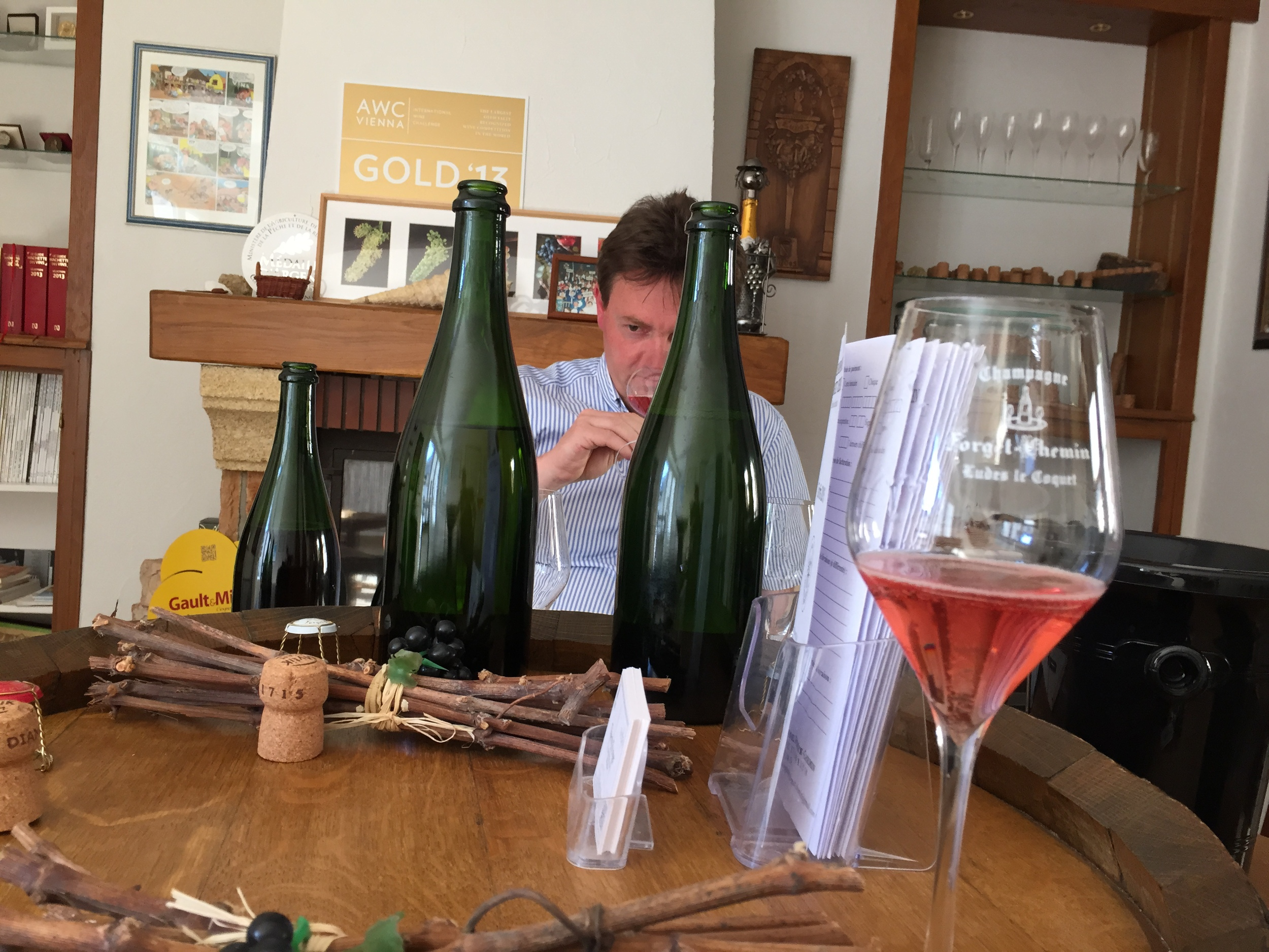 Tasting with Thierry Forget in Ludes...