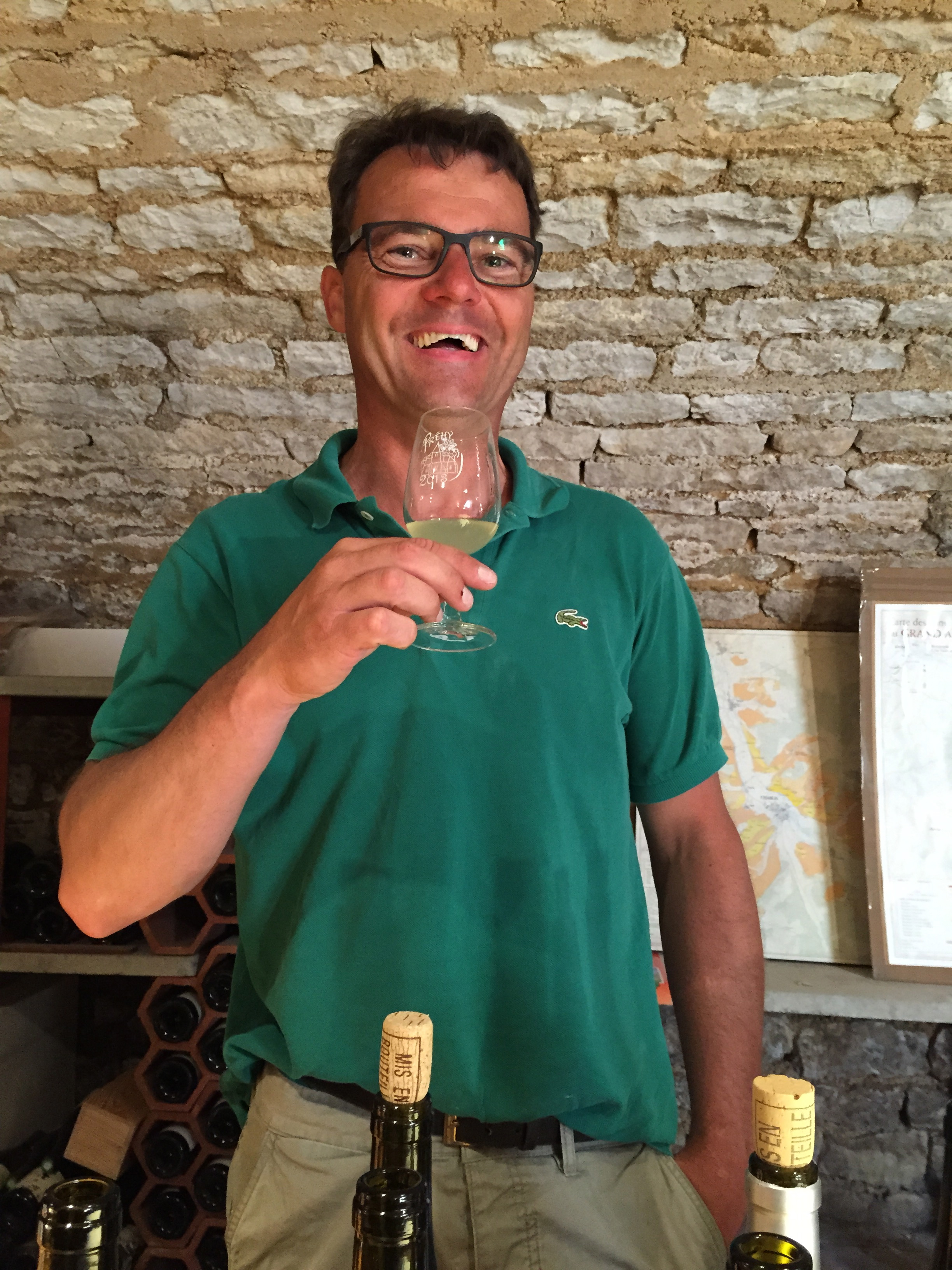 Tasting in the cellar with Frédéric Gueguen