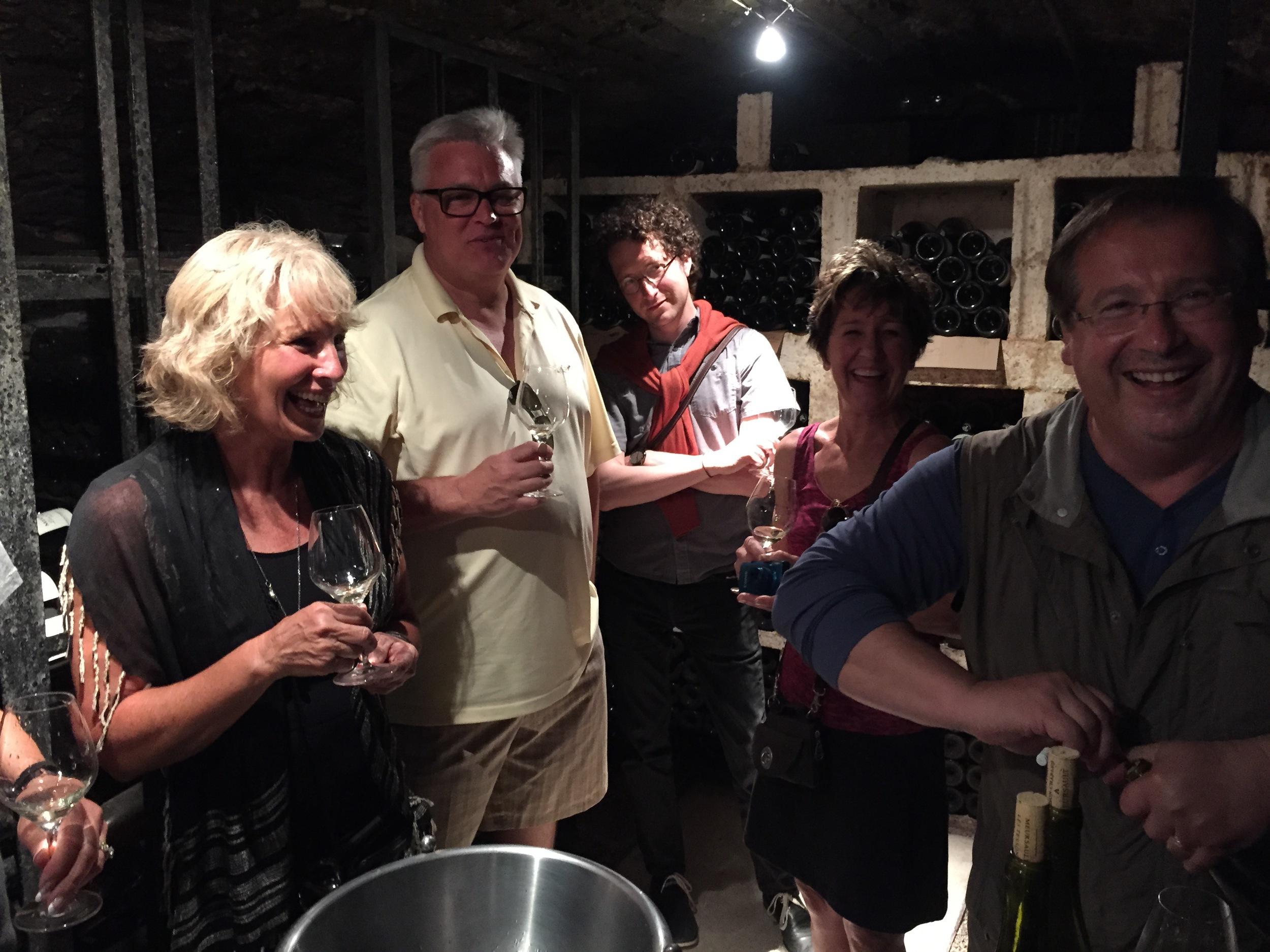Rockin' the cellar with Patrick Essa in Meursault