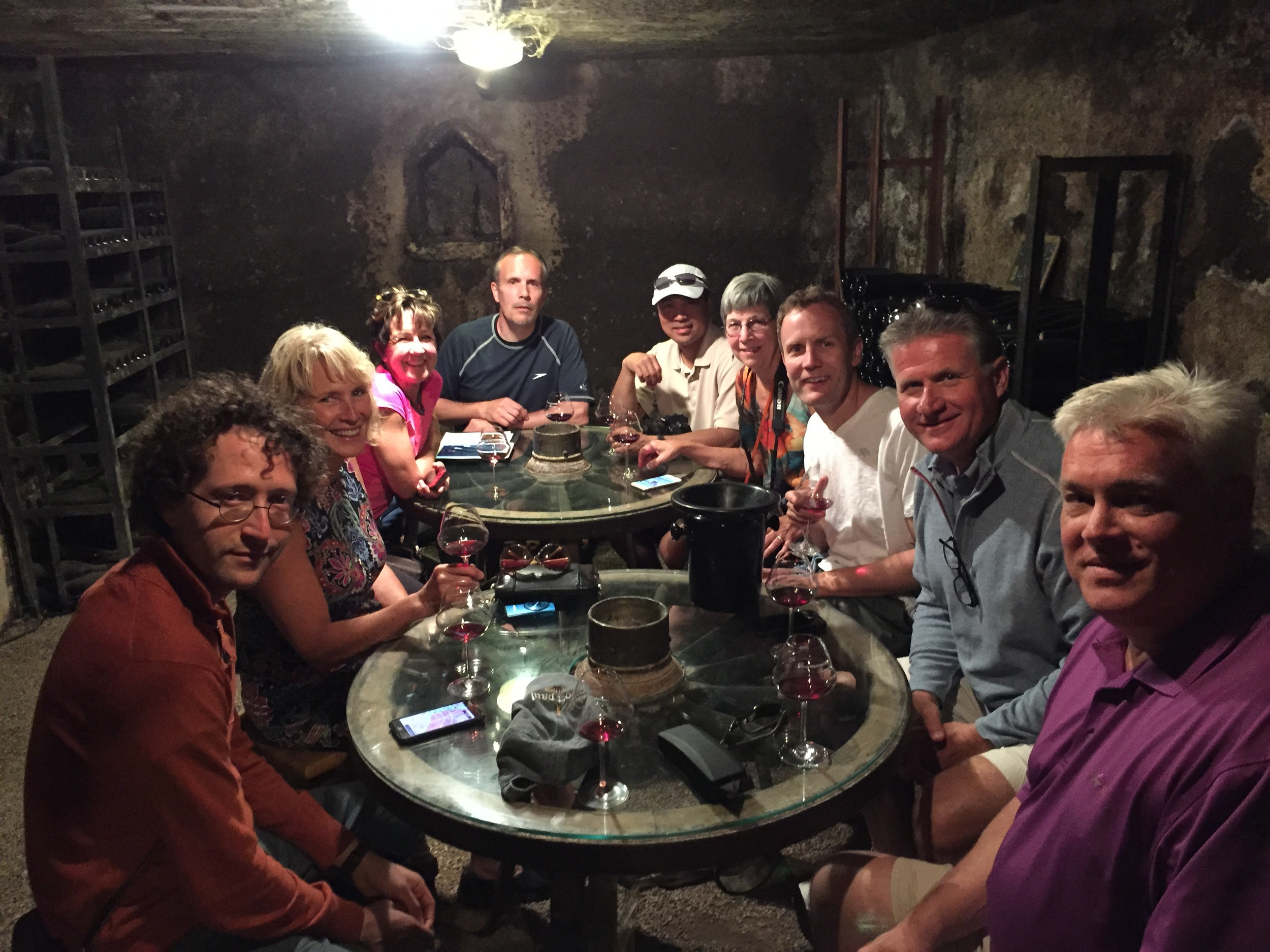 The crew in the cellar at Violot-Guillemard