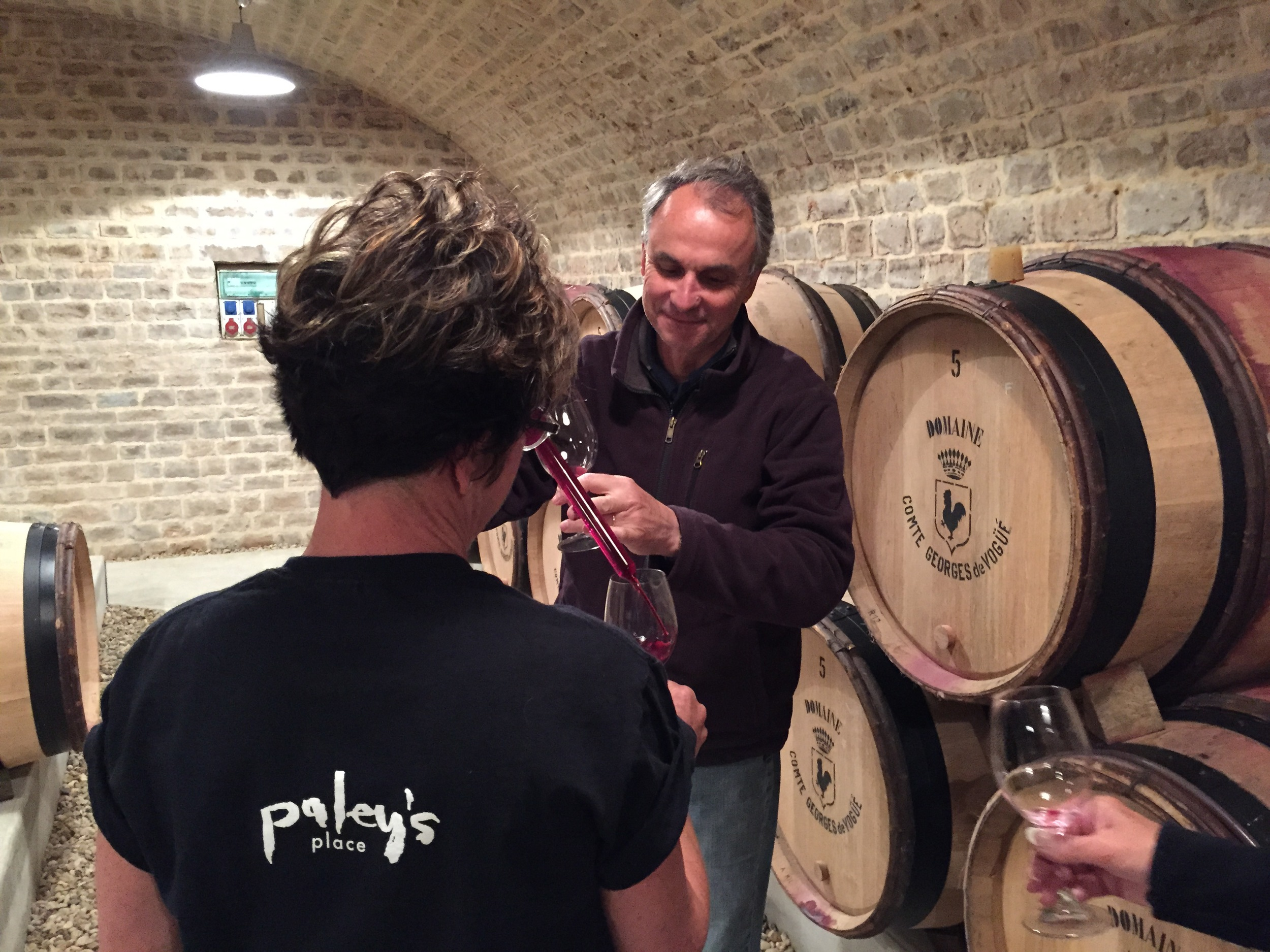 François MIllet pouring the '14 Musigny for Mindy...