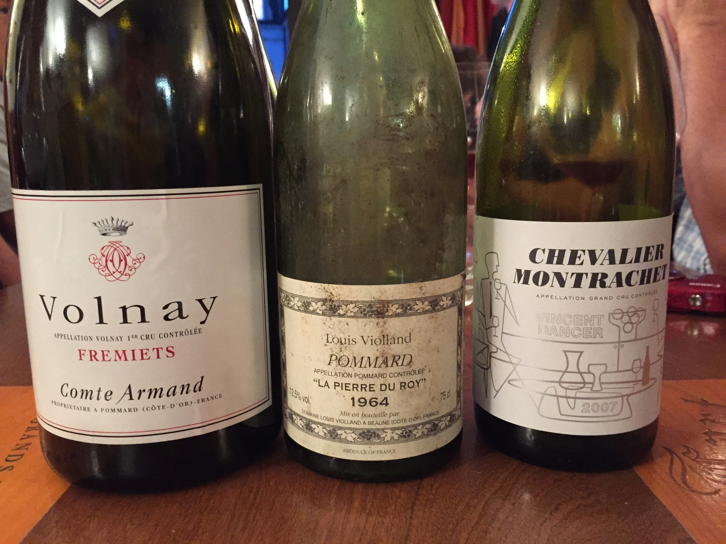 A few bottles with dinner at Ma Cuisine