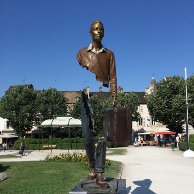 Sculpture in the Place Carnot in Beaune