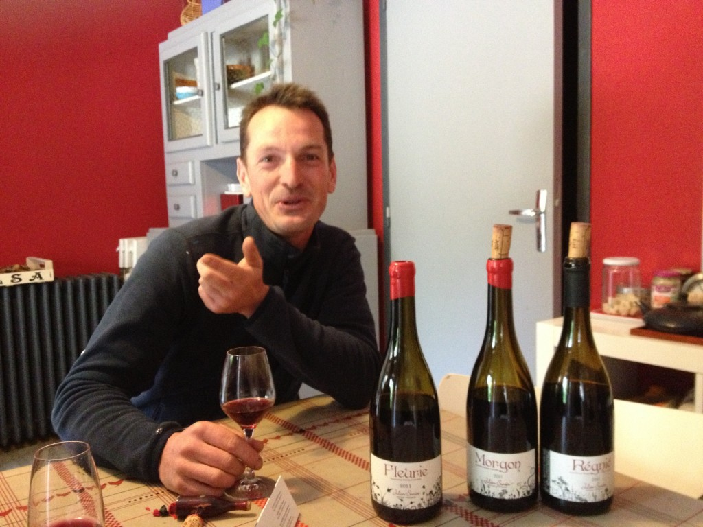In the kitchen-tasting room with Julien Sunier