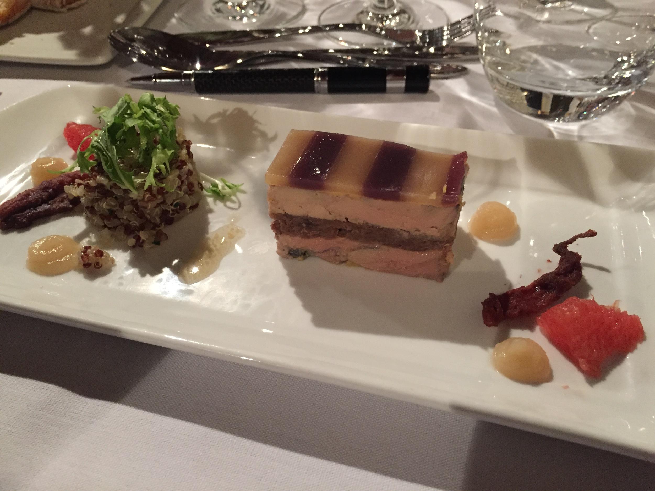 A little foie gras, for starters