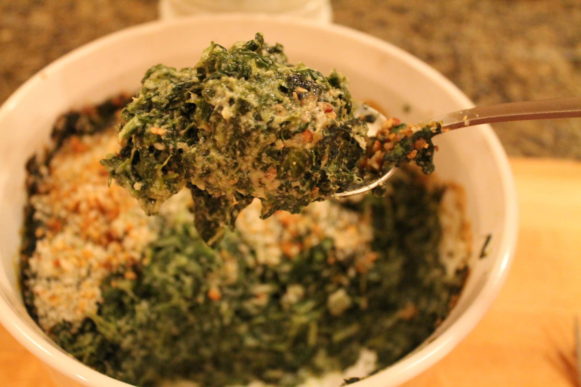 "Oh lordy yum. Best-ever (no dairy) creamed spinach. This is ""sneak-back-in-the-kitchen-for-third-and-fourth-helpings-good."""