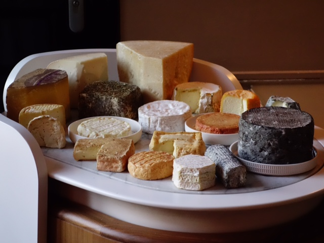Oh Mon Dieu! The cheese cart at l'Assiette Champenoise...