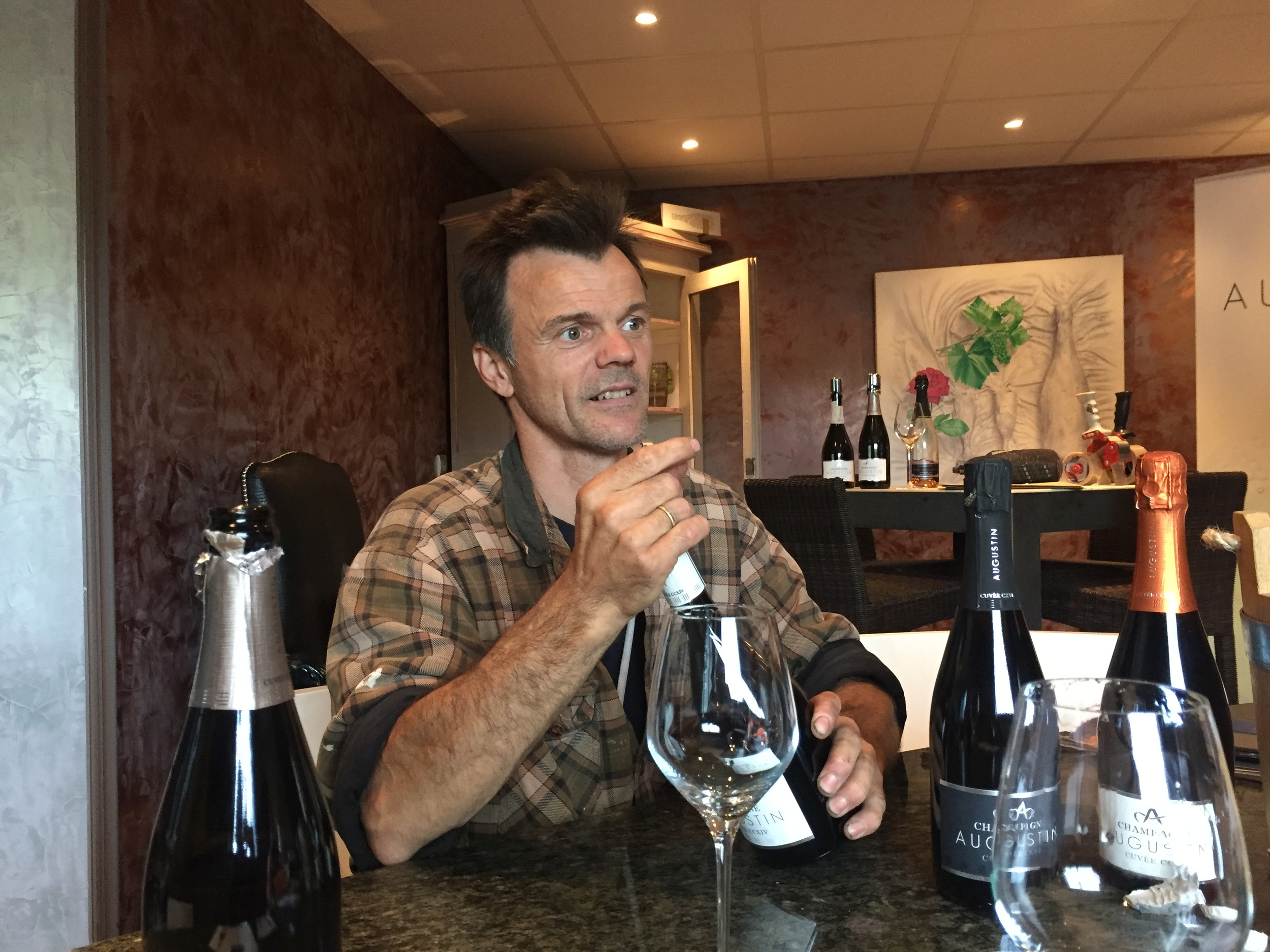Marc Augustin  at his winery in Avenay-Val d'Or