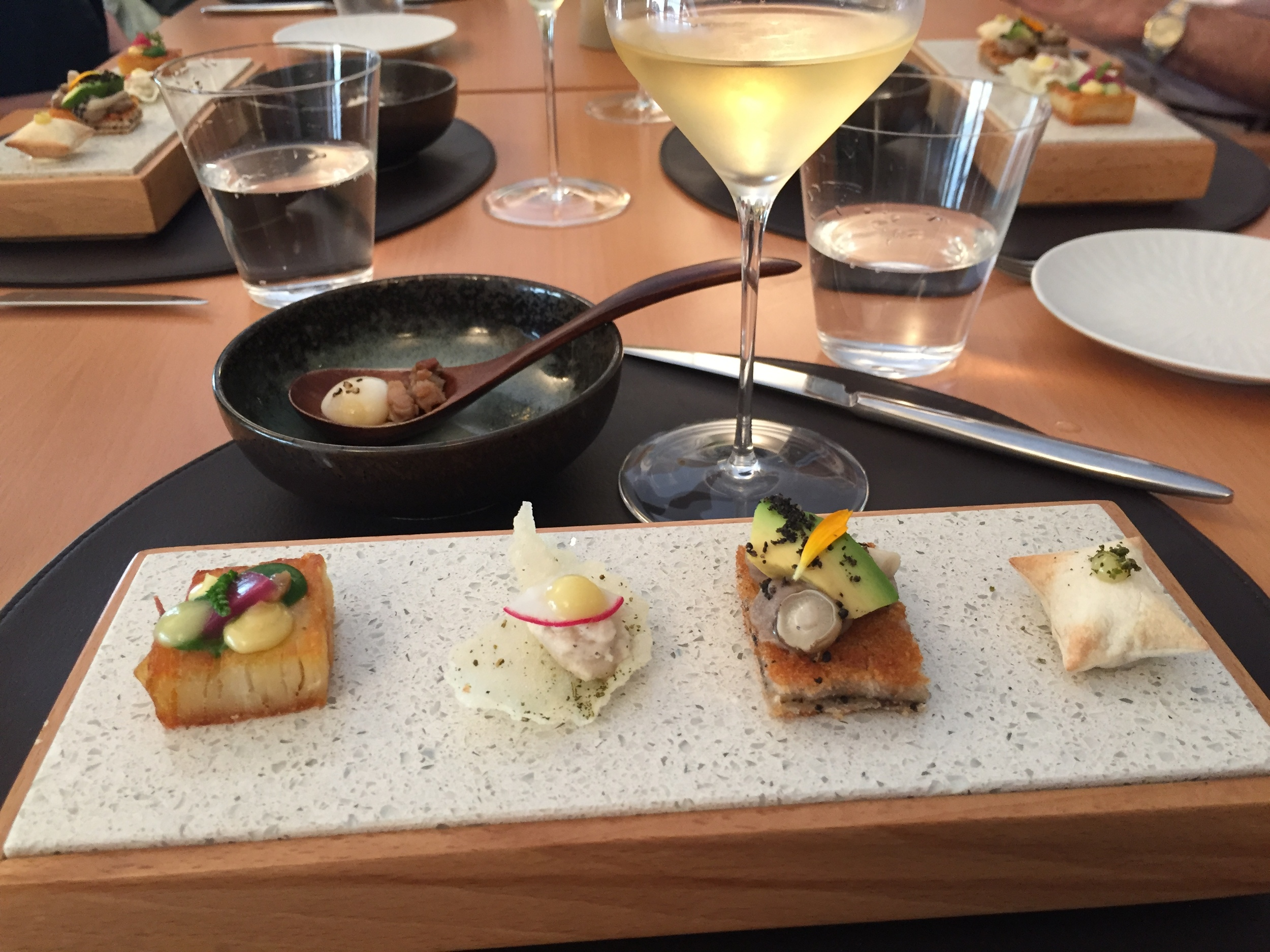 The start to an amazing lunch at  Racine  in Reims