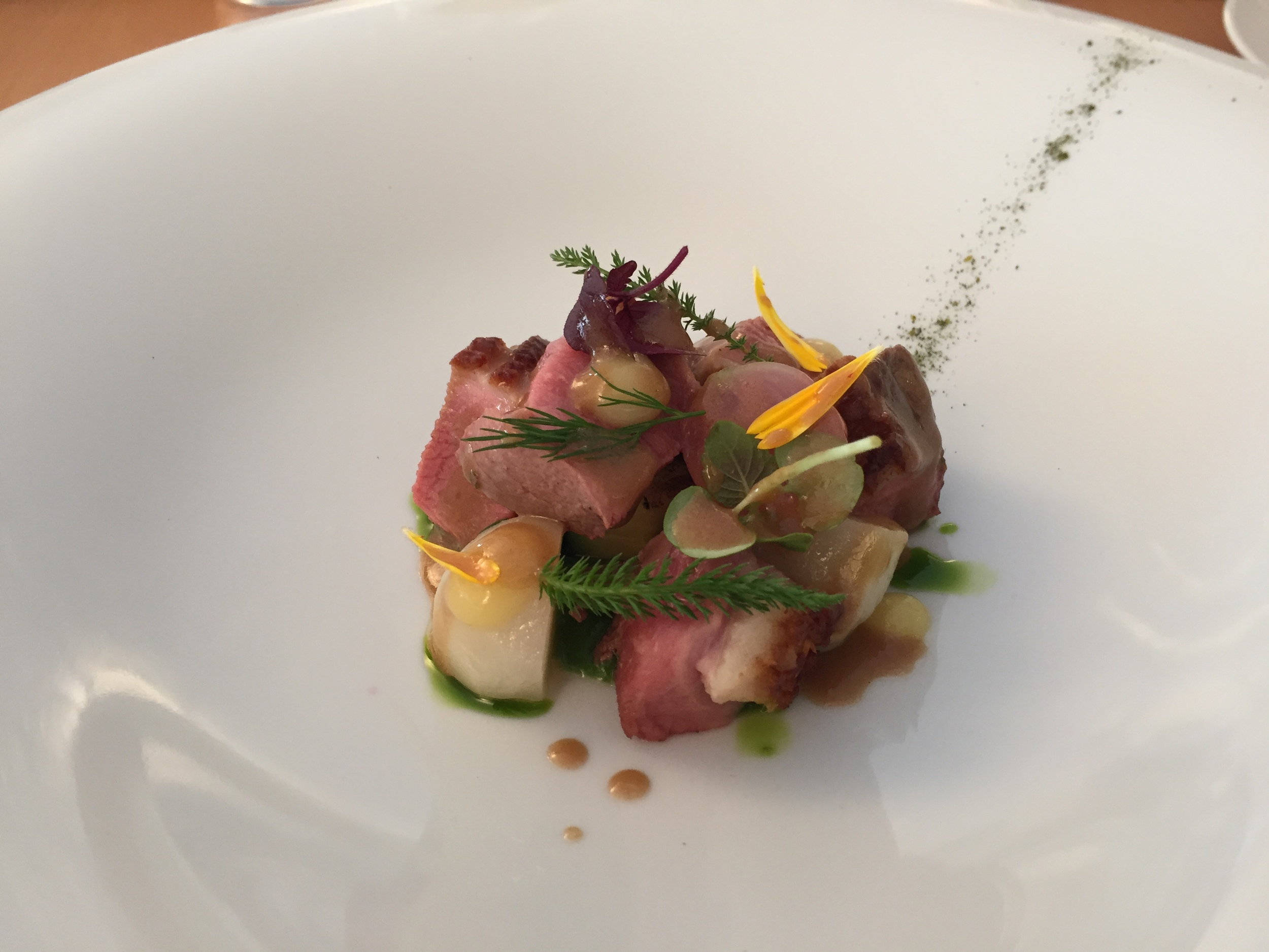 More culinary magic at  Racine . Sublime duck...