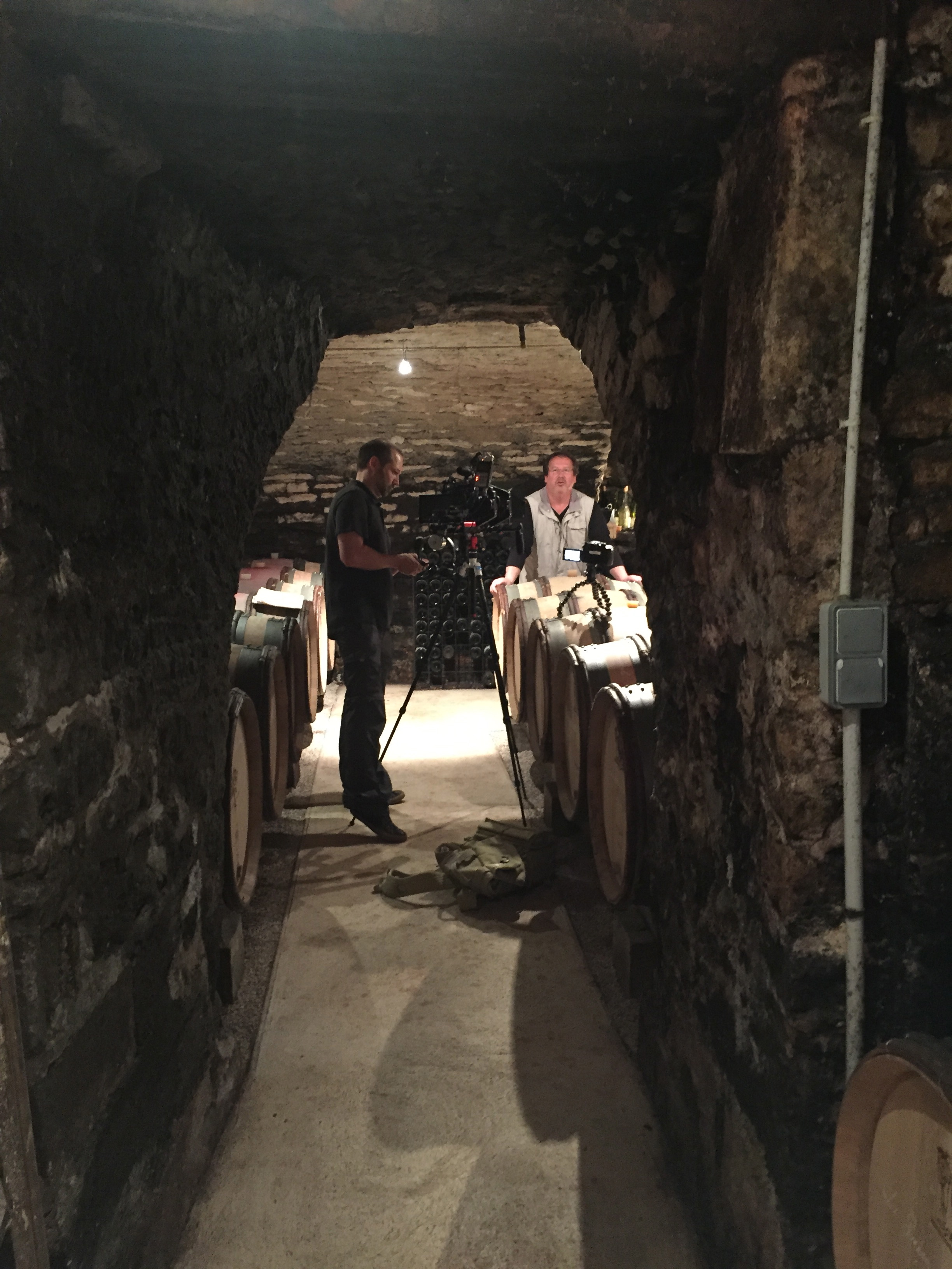 In the  Buisson-Charles  cellars with  Patrick Essa  in Meursault