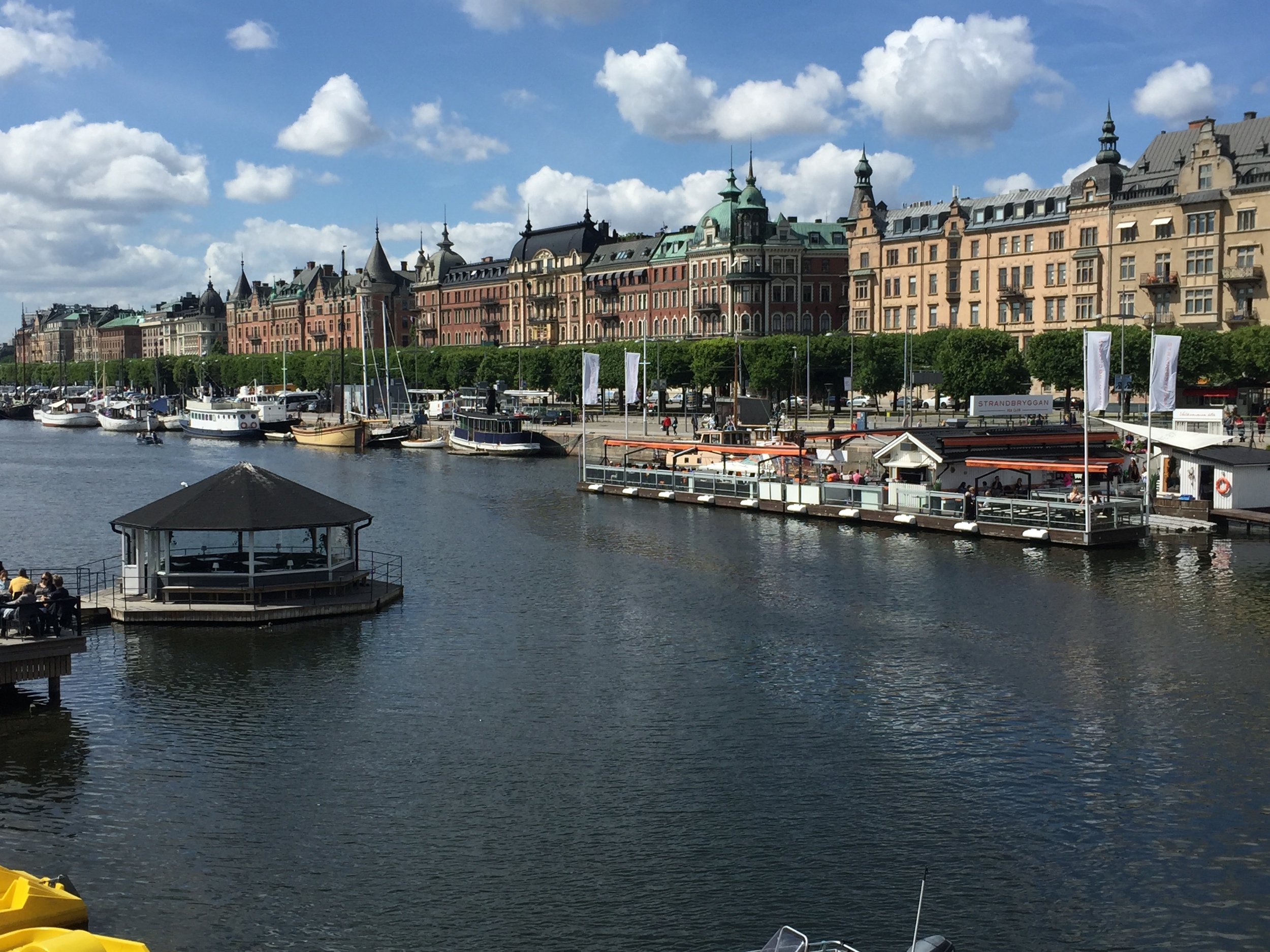 Along the waterfront in Stockholm