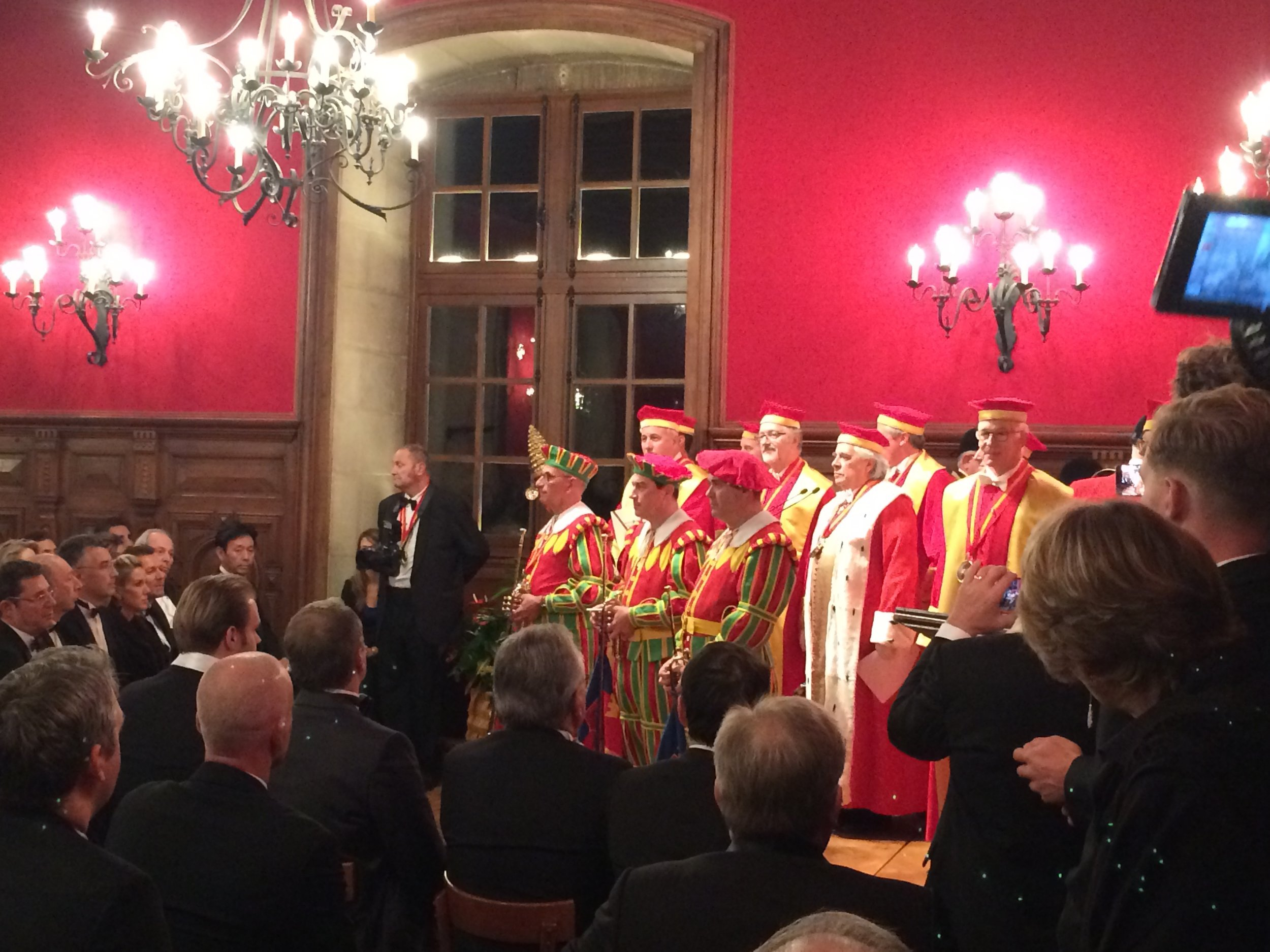 Induction ceremonies underway for the Chevaliers du Tastevin