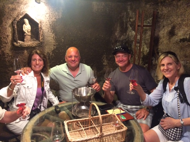 In the cellar at Violot-Guillemard in Pommard